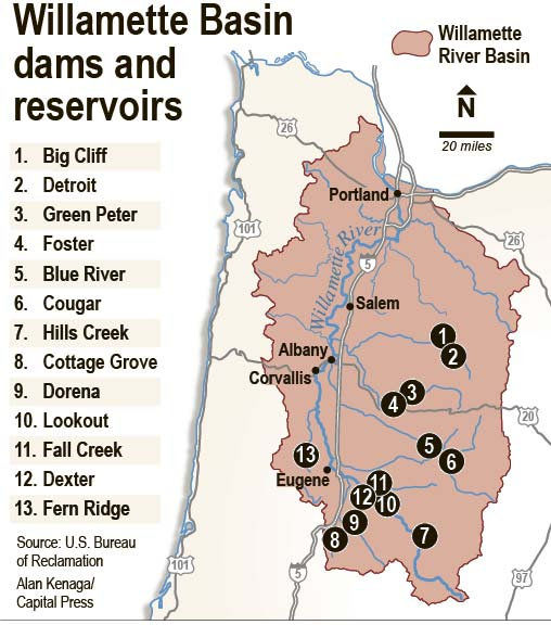 Corps takes look at stored Willamette River Basin water