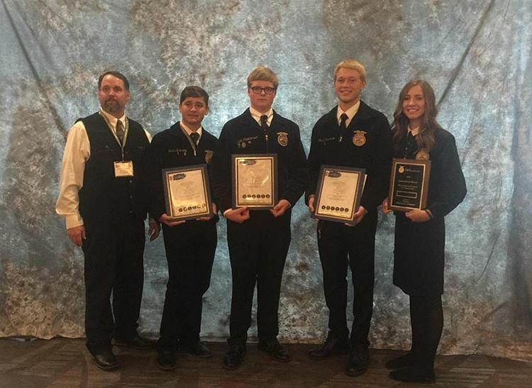 Second place winners in the milk quality CDE