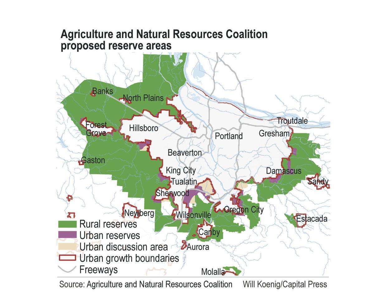 Capital Of Oregon Map.New Urban Reserves Map Floated Oregon Capitalpress Com