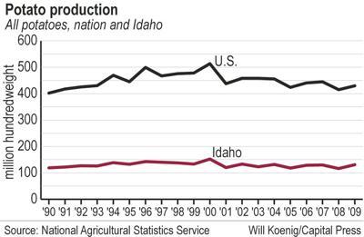 Potato yields on the rise