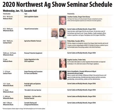 NW Ag Show Wednesday agenda