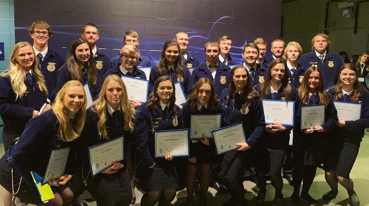 Idaho's American FFA Degree recipients