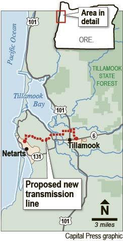 Tillamook transmission line opponents resist eminent domain