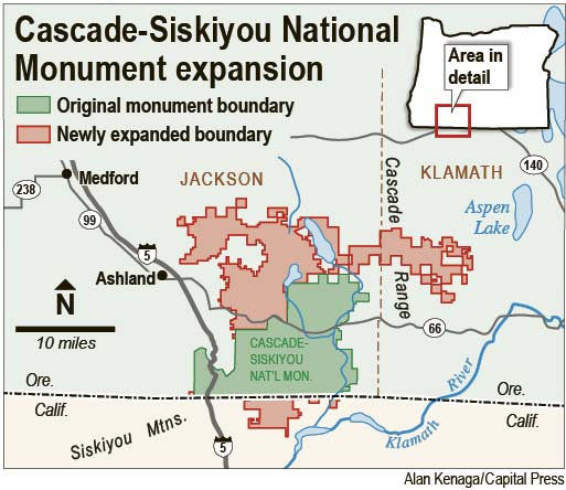 Zinke issues recommendation for Cascade-Siskiyou National Monument