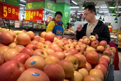 China apple exports