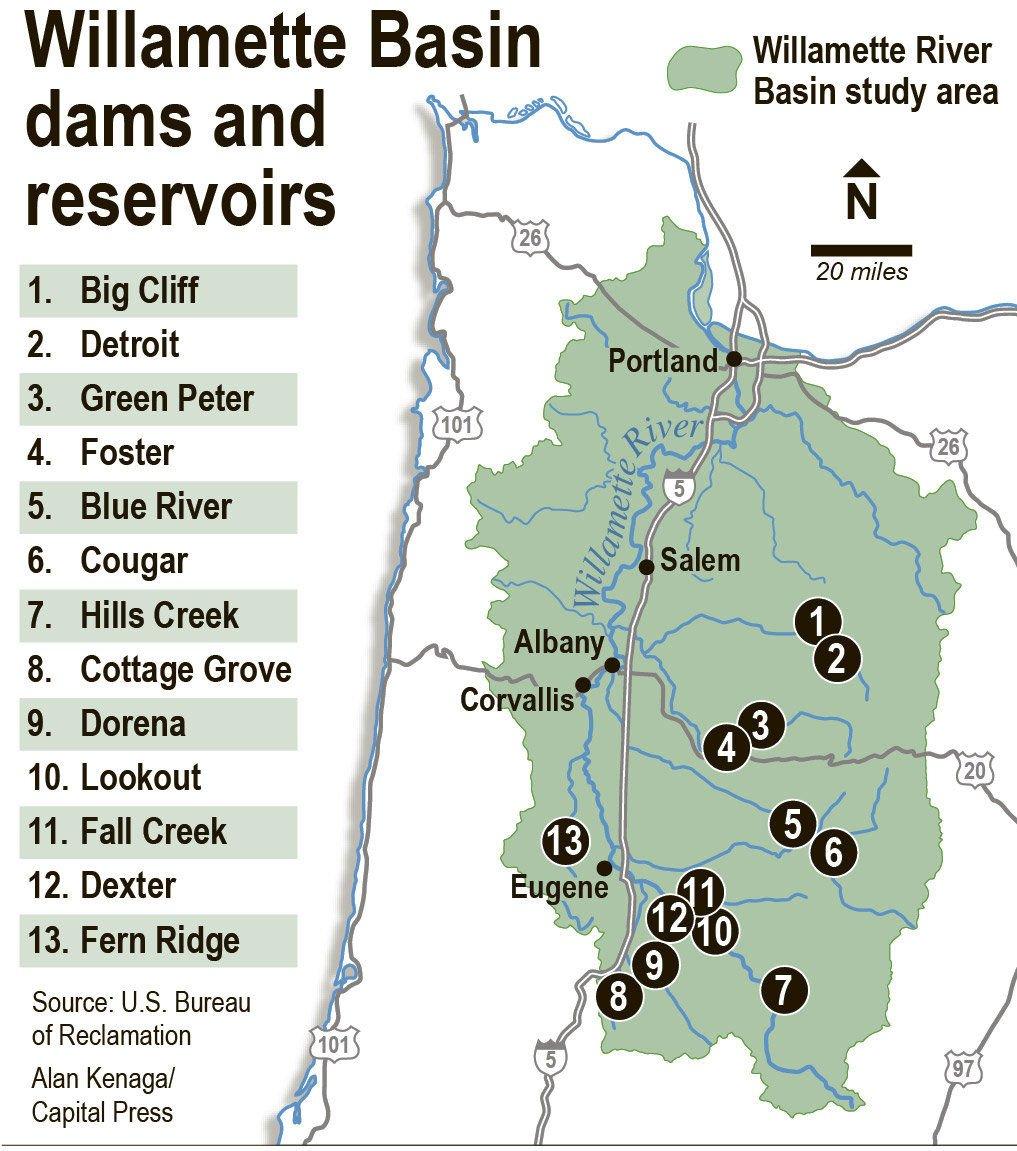 Feds divvying up Willamette Valley dam water