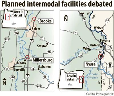 Planned intermodal facilities