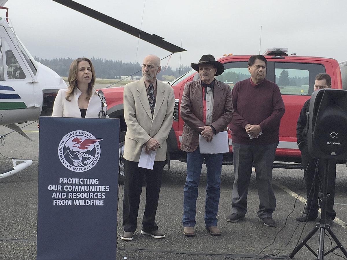 Washington lands commissioner rolls out $55 million fire plan