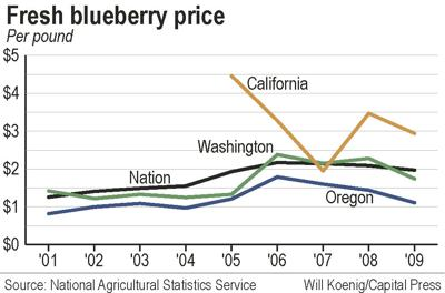 Demand for frozen blueberries pushes up value