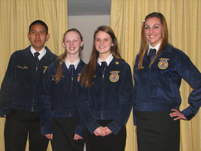 Four Chelan FFA Members Compete in the District Creed Contest
