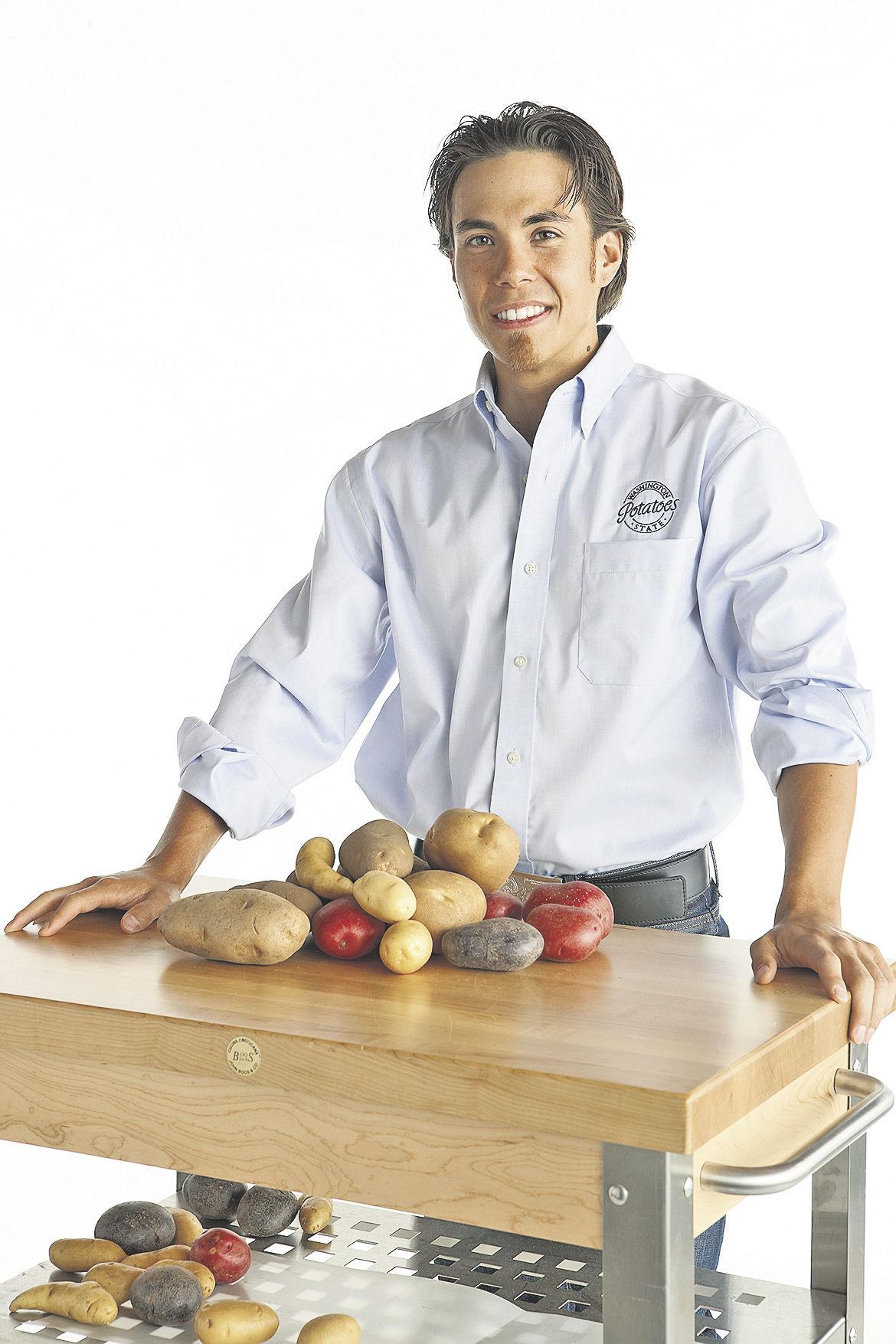 Skater promotes potatoes