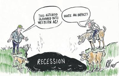 Drop in farm economy hurts community