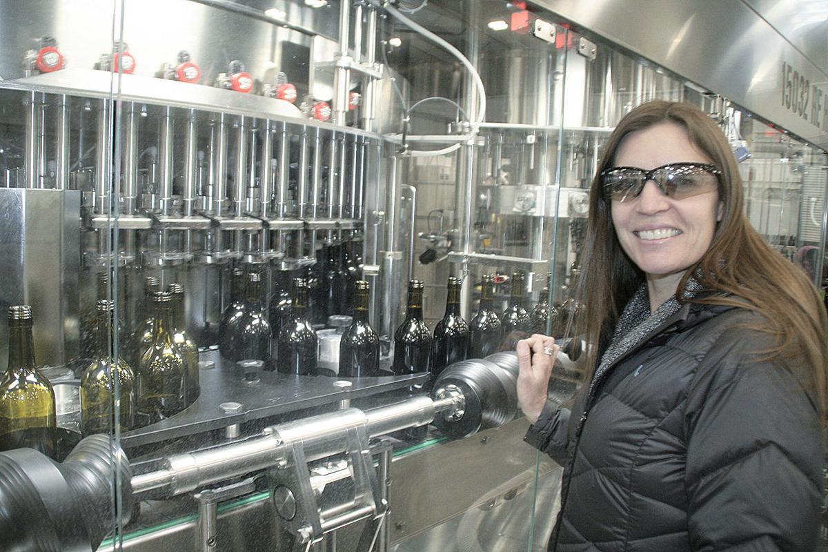 Wine bottling plant testing run