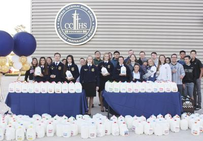 Central Catholic FFA collects 841 gallons of milk for needy