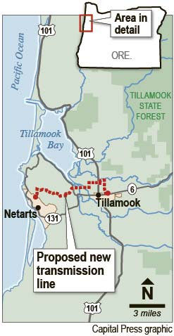 Tillamook transmission line proposal meets with controversy