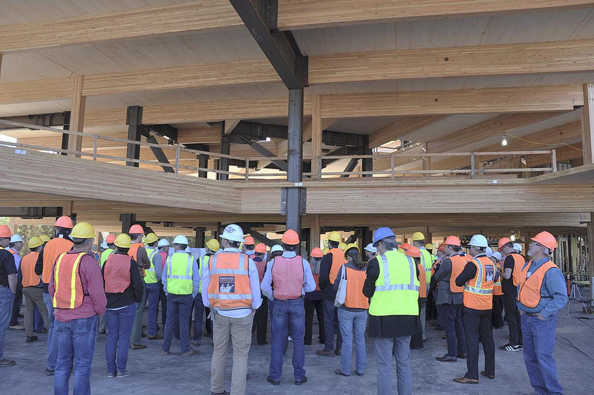 Nation's largest 'mass timber' building under construction in Oregon
