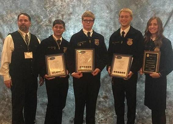 Preston FFA, Second Overall in Milk Quality and Products CDE