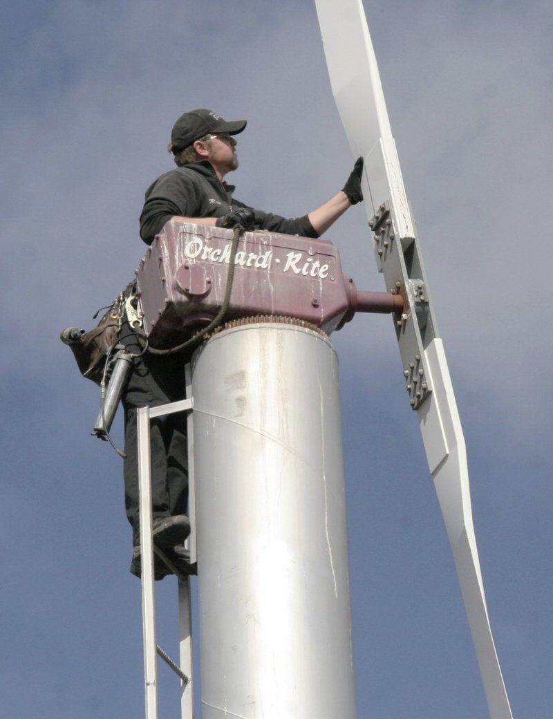 Daring men of orchard wind machines