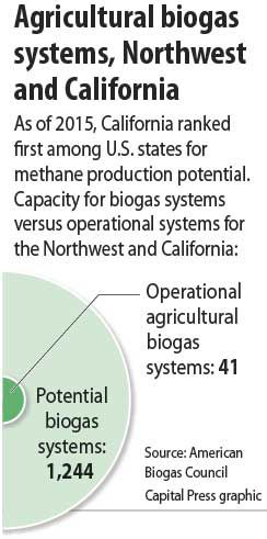 Biogas production potential