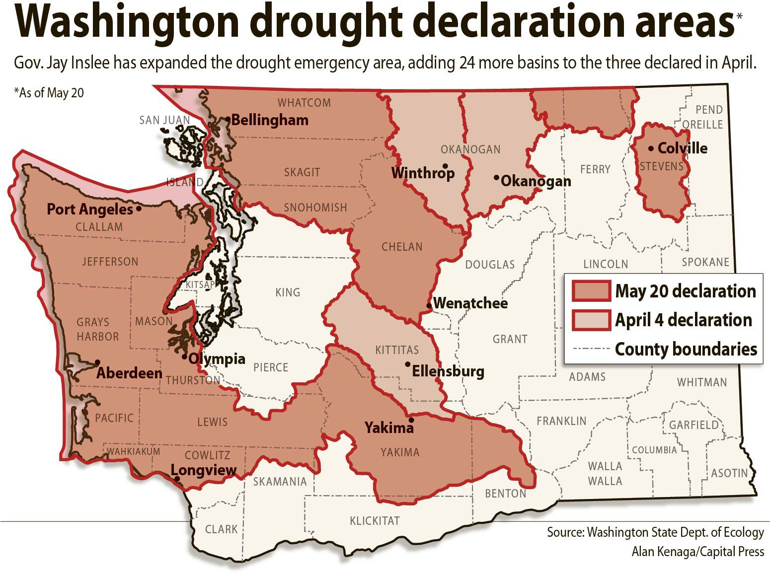 Wash. drought emergency declaration