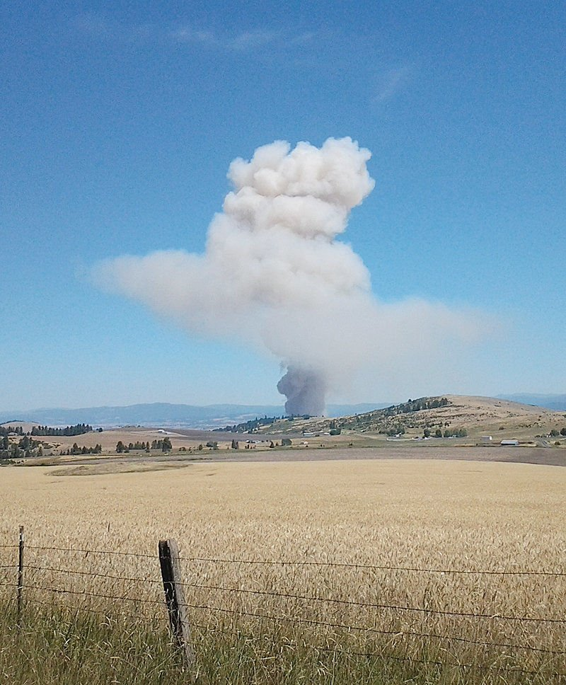 Idaho field burning