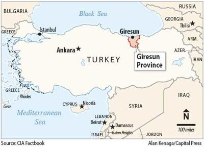 Giresun, Turkey locator