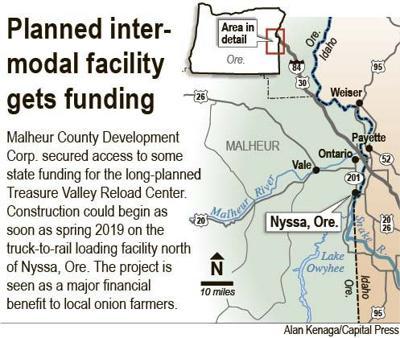Capital Of Oregon Map.Intermodal Shipping Facility Plan Moves Ahead In Nyssa Oregon