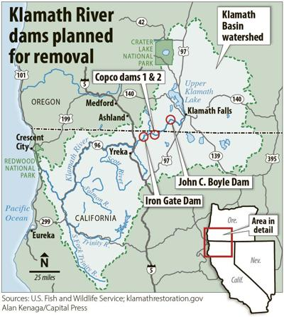 Klamath dams slated for removal