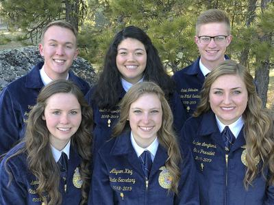 Outgoing Idaho FFA officers