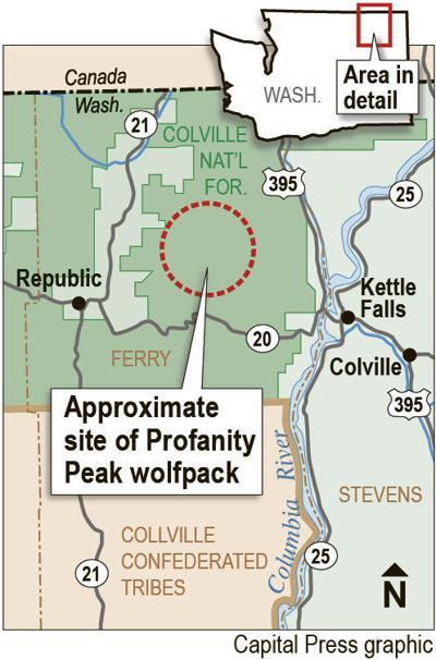 Stevens County ranchers protest Profanity Peak wolf pack