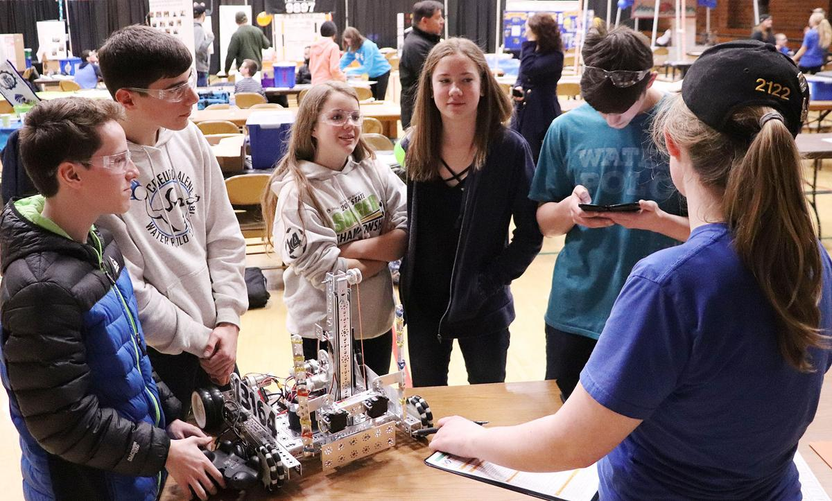 Teamwork is the name of the game in robotics competitions