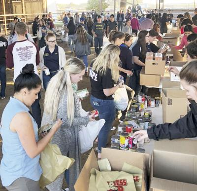 FFA members sponsor canned goods drive