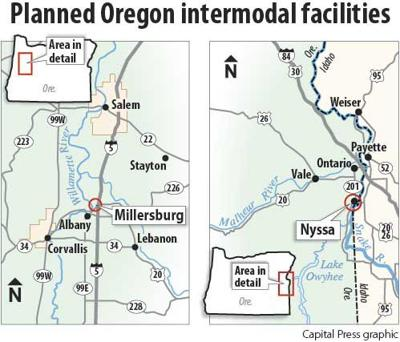 Oregon intermodal  sites
