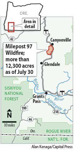 Milepost 97 Fire map