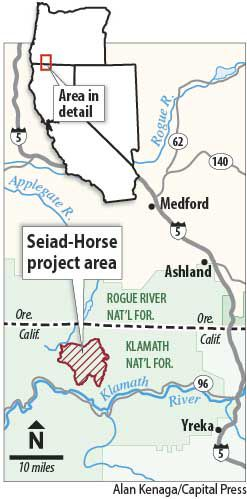 Seiad-Horse project area