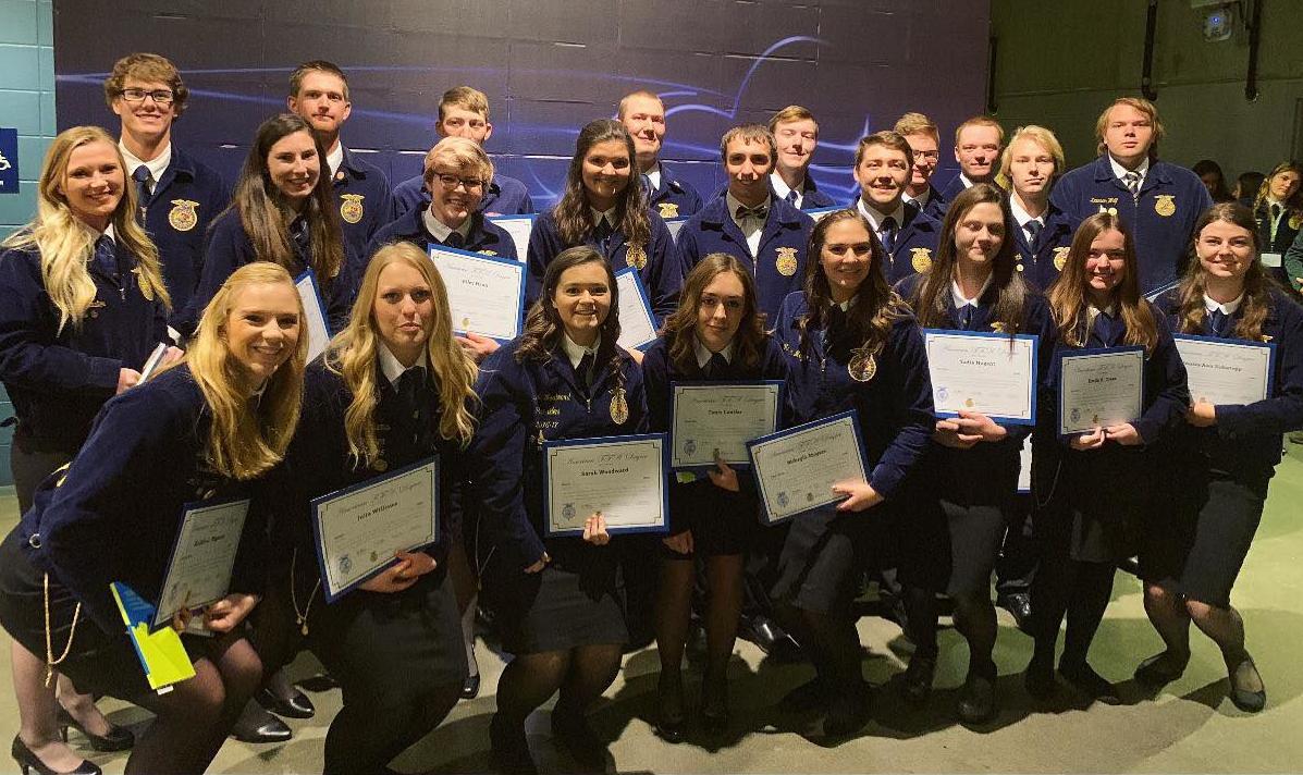Idaho FFA American degree recipients