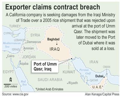 Global rice exporter tangles with Iraqis