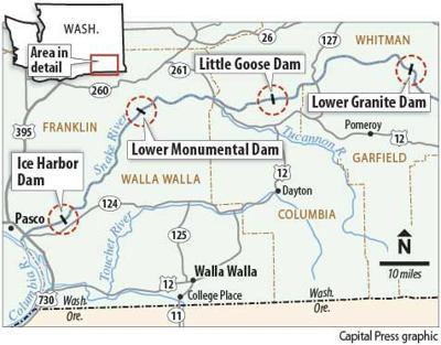 Snake River dams in Wash.