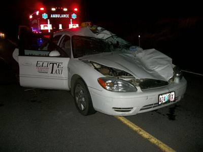 Oregon taxi driver killed in crash with cow