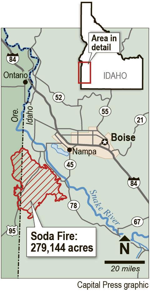 soda fire map idaho Ranchers Environmentalists Spar Over Grazing S Impact On Soda