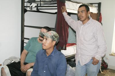 Bunkbeds in farmworker housing