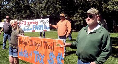 Yamhill trail protest