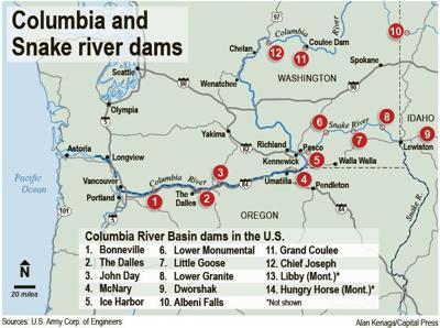 Snake River Washington Map.Negotiations Expected To Resume On Columbia River Treaty Idaho