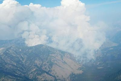 Wapiti Fire consumes timber lands in central Idaho