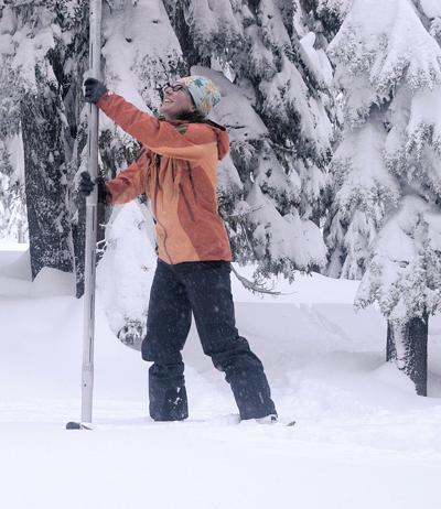 Snowpack debate Mt. Hood snow art