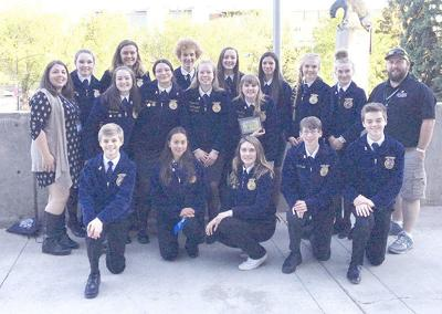 Cedarcrest FFA members excel at state convention