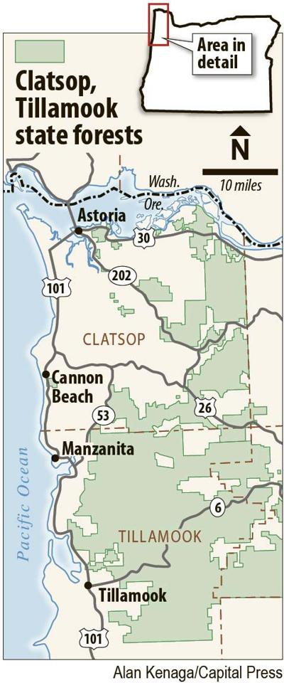 Clatsop, Tillamook state forests