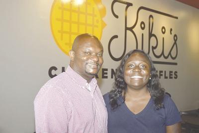 Kiki's Chicken & Waffles owners hold Grand Opening