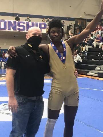 Columbia HS wrestler