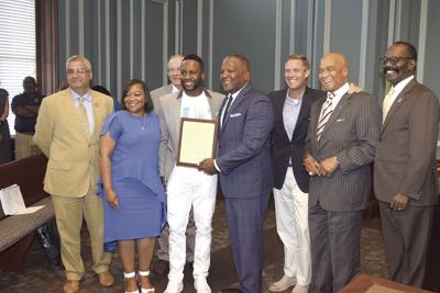 Famous actor Kendrick Cross honored